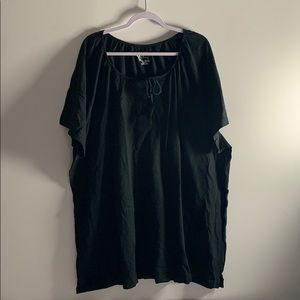 Black Cotton Shirt 5X New Without Tags